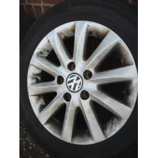 15 inch Originele VW Scirocco velgen & banden (steek 5x112)